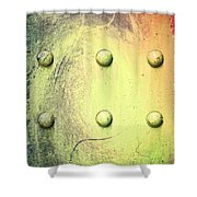 Steel Beam Abstract Shower Curtain