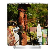 Steel Gunfighter Shower Curtain