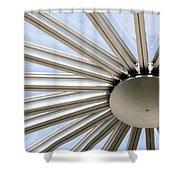 Steel Sun Shower Curtain