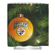 Steelers Ornament Shower Curtain
