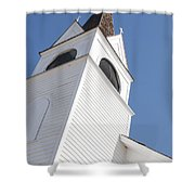 Steeple On St. Joseph's Catholic Mission Church Shower Curtain