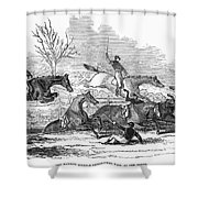 Steeplechase, 1845 Shower Curtain