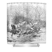 Steeplechase, 1847 Shower Curtain