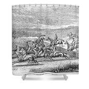 Steeplechase, 1863 Shower Curtain