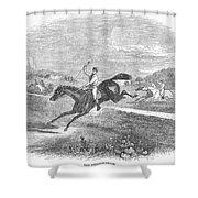 Steeplechase, C1880 Shower Curtain