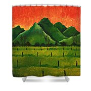 Stellenbosch Mountain Shower Curtain