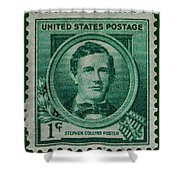 Stephen Collins Foster Postage Stamp Shower Curtain