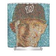 Stephen Strasburg Card Mosaic Shower Curtain