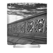 Steps Of Central Park In Black And White Shower Curtain