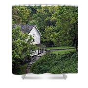 Steps To The Mill Shower Curtain