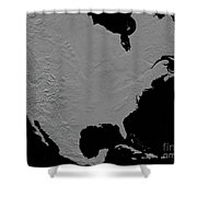 Stereoscopic View Of North America Shower Curtain