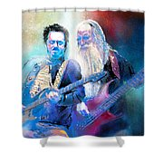 Steve Lukather And Leland Sklar From Toto 02 Shower Curtain