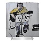 Steve's Guitar Shower Curtain