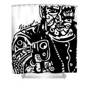 Stick Em Up Shower Curtain