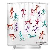 Stickmen October Two Thousand One Shower Curtain