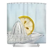 Still Life With A Half Slice Of Lemon Shower Curtain