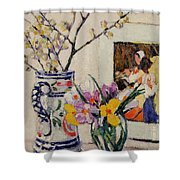 Still Life With Flowers In A Vase   Shower Curtain