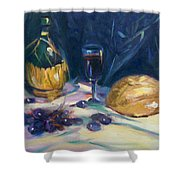 Still Life With Grapes Shower Curtain