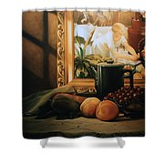 Still Life With Hopper Shower Curtain