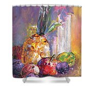 Still Life With Pineapple Shower Curtain