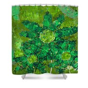 Stimuli Floral -s11bt01 Shower Curtain by Variance Collections