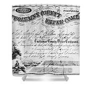 Stock Certificate, 1853 Shower Curtain