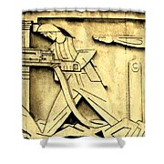 Stock Exchange Miners Shower Curtain