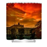 Stockholm In Autumn Shower Curtain