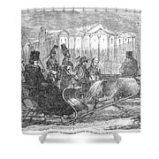 Stockholm: Sleighing, 1850 Shower Curtain