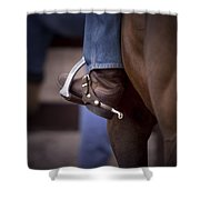 Stockhorse And Spurs Shower Curtain