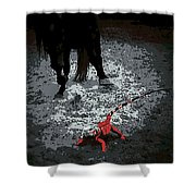 Stomping Mad Shower Curtain