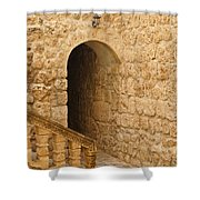 Stone Arch And Stairway Shower Curtain