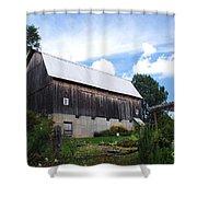 Stone Cottage Barn Shower Curtain