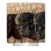 Stone Faces Shower Curtain