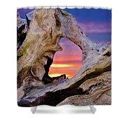 Stone Lagoon Sunset Redux Shower Curtain