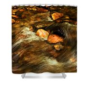Stone Mountain River Rocks Shower Curtain