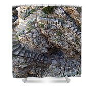 Stone Sea Steps Shower Curtain