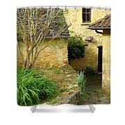 Stone Stairs To Hamlet Shower Curtain