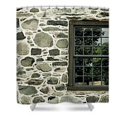 Stone Wall With A Window Shower Curtain