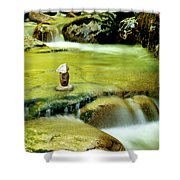 Stone Works Shower Curtain