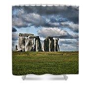Stonehenge Landscape Shower Curtain