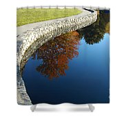 Stonewall And Autumn Reflections Shower Curtain