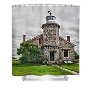 Stonington Lighthouse Museum Shower Curtain