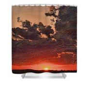 Stony Clouds Shower Curtain