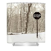 Stop Snowing Shower Curtain