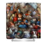 Store - The Busy Marketpalce Shower Curtain