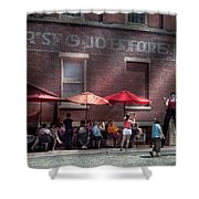 Storefront - Bastile Day In Frenchtown Shower Curtain