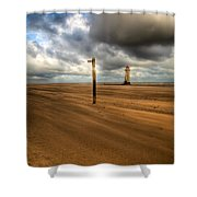 Storm Brewing Shower Curtain by Adrian Evans