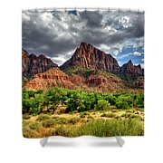 Storm Brewing In Desert Shower Curtain