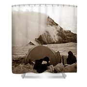 Storm Camp Shower Curtain